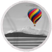 In Their Own World Colorado Ballooning Round Beach Towel