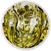 In Tune With Nature Round Beach Towel