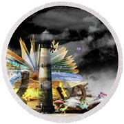In Your Imagination Round Beach Towel