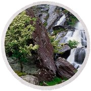 Inchquinn Waterfall, Beara Peninsula Round Beach Towel