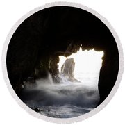 Incoming Tide Big Sur Round Beach Towel