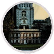 Independence Hall - The Cradle Of Liberty Round Beach Towel