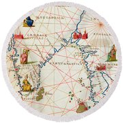 India And Malaysia Round Beach Towel