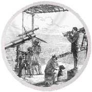 India Eclipse Expedition, 1872 Round Beach Towel by Science Source