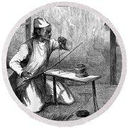 India: Pearl Borer, 1876 Round Beach Towel