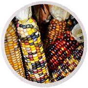 Indian Corn 2 Round Beach Towel