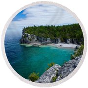 Indian Head Cove Round Beach Towel