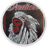 Indian Motorcycles Round Beach Towel