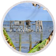 Indian River Roost Round Beach Towel