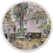 Indian Summer In Colonial Days Round Beach Towel by Childe Hassam