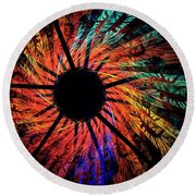 Indian Summer Round Beach Towel