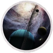 Indra, A Fast Spinning Gas Giant Round Beach Towel