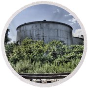 Industrial Tank Round Beach Towel