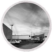 Industry And Beauty Round Beach Towel