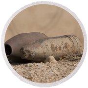 Inert Artillery Rounds Litter Camp Round Beach Towel