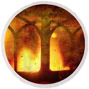 Inferno Round Beach Towel