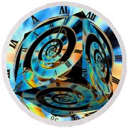 Infinity Time Cube Round Beach Towel