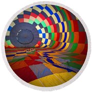 Inflating Round Beach Towel by Rick Berk