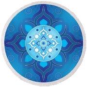 Inner Guidance - Blue Version Round Beach Towel