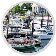 Inner Harbour Round Beach Towel