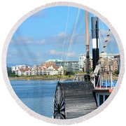 Inner Harbour2 Round Beach Towel
