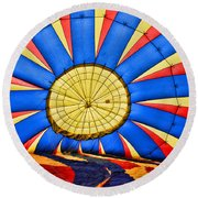 Inside A Hot Air Balloon Round Beach Towel