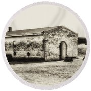Inside Fort Mifflin - Phildalphia Round Beach Towel