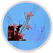 Inside Out Floral Design Round Beach Towel