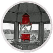 Inside The Lighthouse Tower #2. Uostadvaris. Lithuania. Round Beach Towel