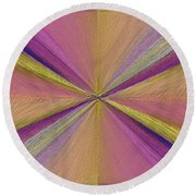 Inside The Rainbow Round Beach Towel