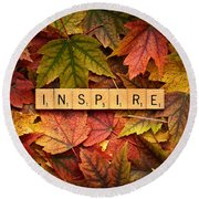 Inspire-autumn Round Beach Towel
