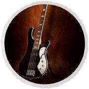 Instrument - Guitar - High Strung Round Beach Towel