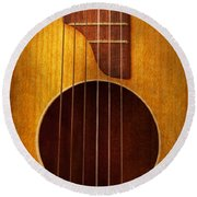 Instrument - Guitar - Let's Play Some Music  Round Beach Towel