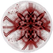 Intelligent Design 1 Round Beach Towel by Angelina Vick