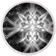 Intelligent Design Bw 1 Round Beach Towel by Angelina Vick