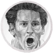 Intensity Lionel Messi Round Beach Towel