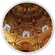 Interiors Of A Cathedral, St. Finbarrs Round Beach Towel