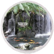 International Marketplace - Waikiki Round Beach Towel