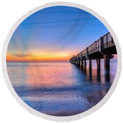 Into The Blue Round Beach Towel