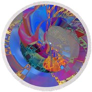 Into The Inner World Round Beach Towel