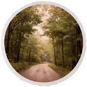 Into The Mists Round Beach Towel