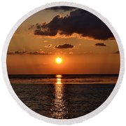 Into The Sun Round Beach Towel