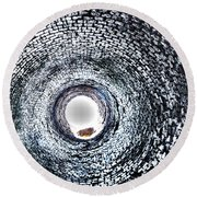 Into The Unkown Round Beach Towel