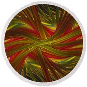Into The Web Round Beach Towel