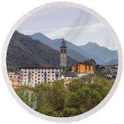 Intragna - Ticino Round Beach Towel