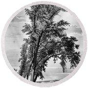 Iowa: Council Bluffs, 1855 Round Beach Towel