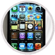 Iphone Round Beach Towel by Photo Researchers