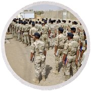 Iraqi Air Force College Cadets March Round Beach Towel by Stocktrek Images