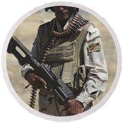 Iraqi Army Soldier Round Beach Towel