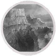 Ireland: Cliffs, C1840 Round Beach Towel